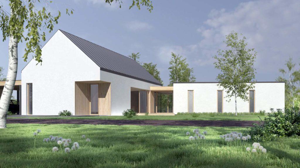 wizualizacja dachu bez okien