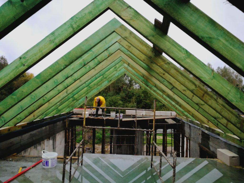 więźba dachu dwuspadowego